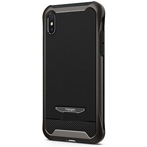 huge selection of 9614d fd809 Spigen Reventon Case w/ Tempered Glass for Apple iPhone X - Gunmetal -  Retail Packaged