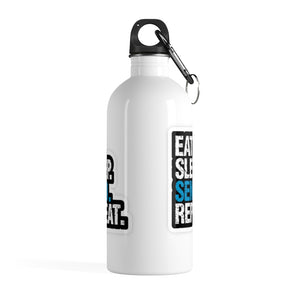 Eat Sleep Send Repeat Stainless Steel Water Bottle