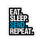 Eat Sleep Send Repeat Stickers