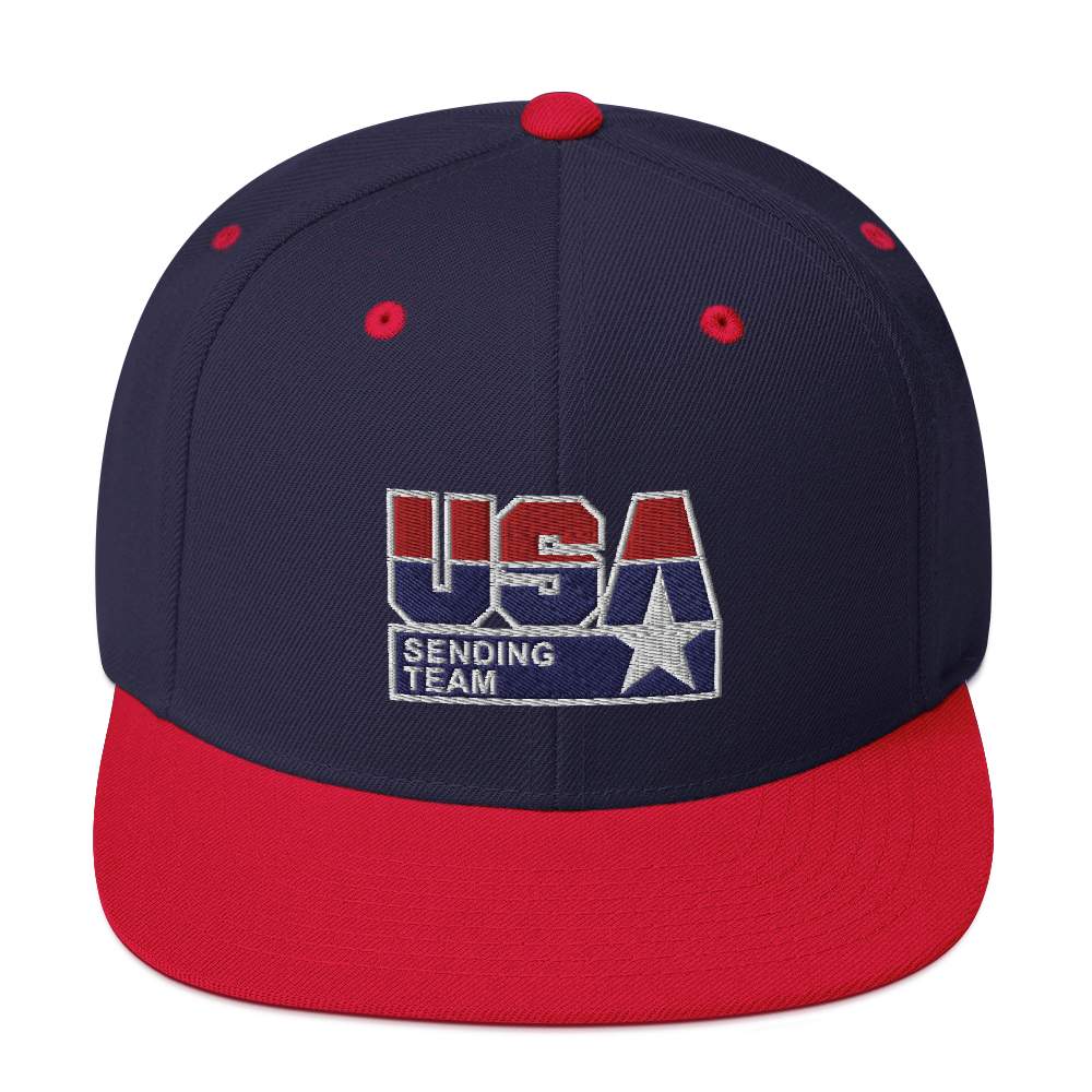 USA Sending Team Snapback Hat