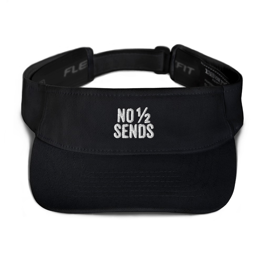 No Half Sends Visor