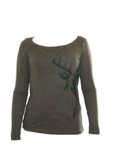 WMN'S FULL RUT OVAL NECK LS
