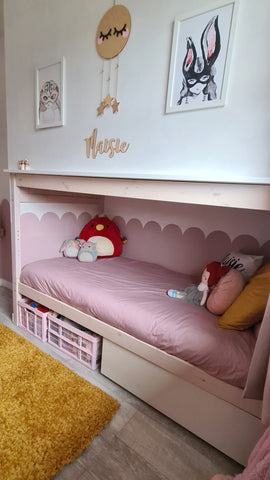 Lockdown Project Dividing A Bedroom With Bunkbeds Crafted Pine Co