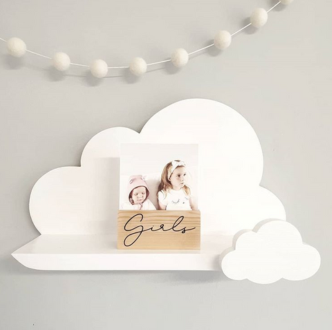 Styling a cloud shelf for a children's room