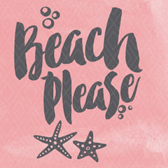 Beach please stencil - Etsy