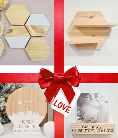 Gifts for him and the grandparents