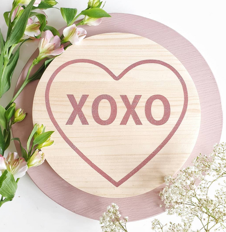 xoxo plaque