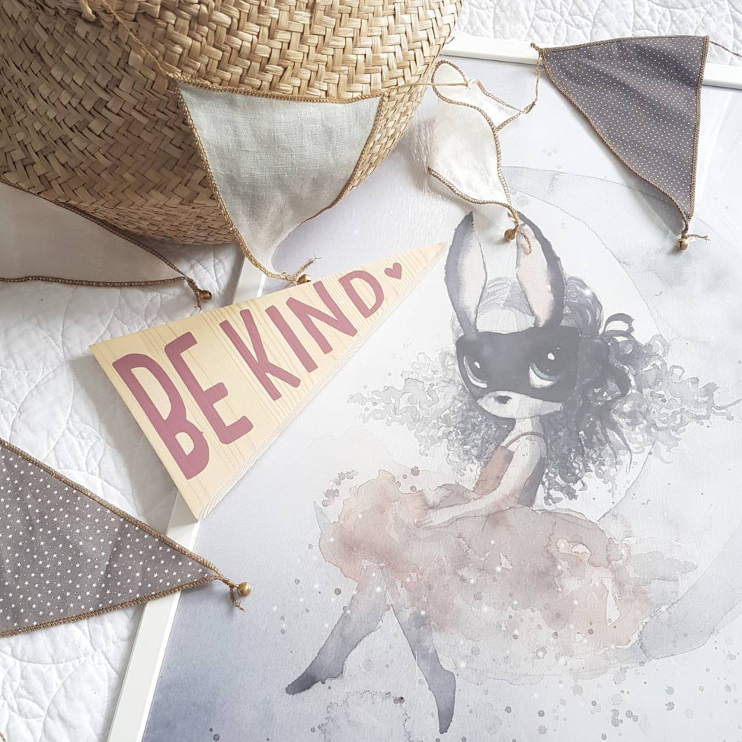 Be Kind - Wooden Wall Plaque