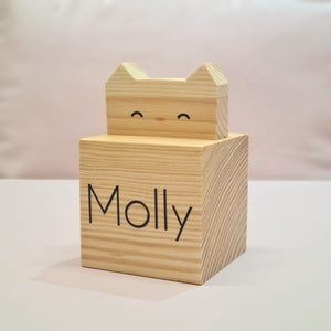 Large Personalised Cat Block