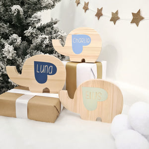 Personalised Elephant Shelf Sitter