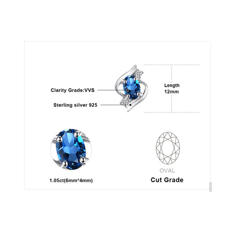 Exquisite London Blue Topaz Earrings For Women