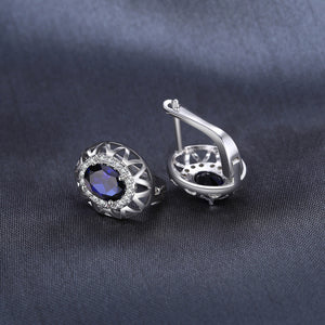 Unique Blue Sapphire Earrings For Women Born in September