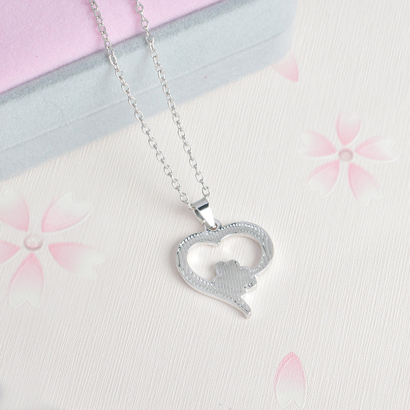 Heart Paw Necklace Pet Memorial Necklace for Pet Lovers