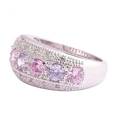 The Thick Spread Ring in Pink Tourmaline