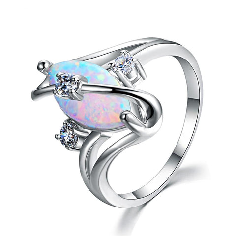 Image of The Precious Ring in White Fire Opal