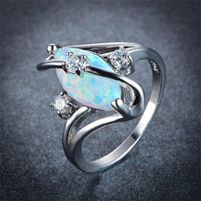 The Precious Ring in White Fire Opal