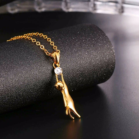 Cute Cat Necklace & Pendant For Women Gift Silver/Gold Color