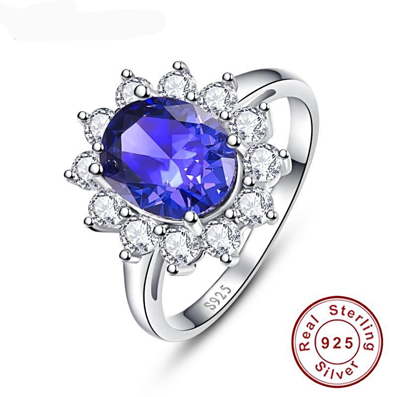 4.4ct Round Cut Tanzanite Ring for Women Born in December