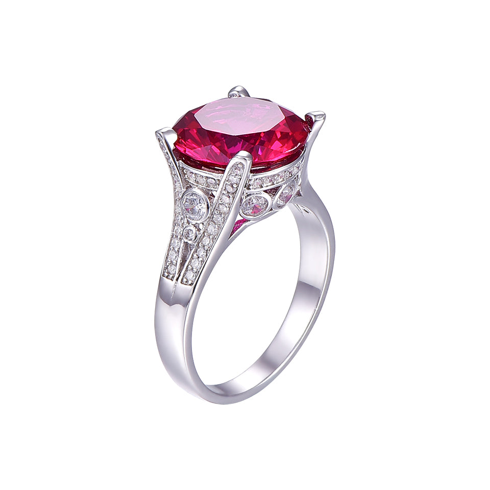 8ct Red Ruby  Ring for Women born in July