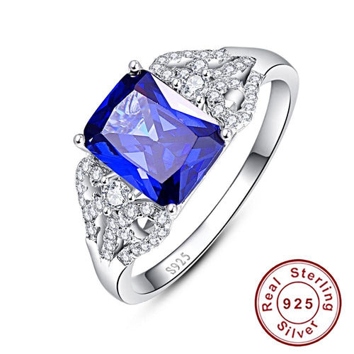 Blue Tanzanite Ring for Women Born in December