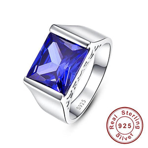 Classic Square Cut Ring in Tanzanite for Women born in September