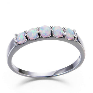 The Fifth Sense II Ring in White Fire Opal