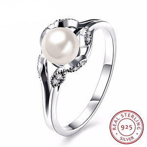 Intricate Pearl Ring for Women Born in June