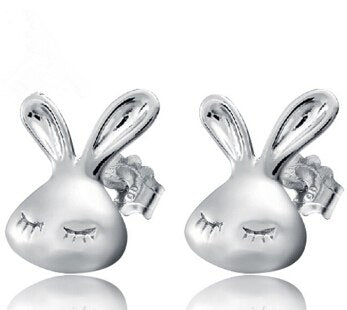 Image of Rabbit Stud Earrings