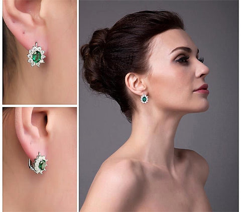 Image of The Royalty II Clip Earrings in Emerald