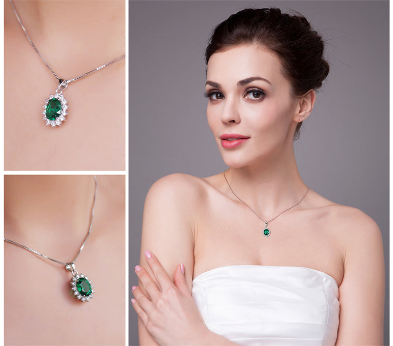 The Royalty Pendant in Emerald