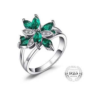 The Marquise Ring in Emerald