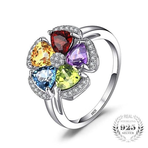 Image of Ring with greatness of multiple birthstones stones and their benefits for Women