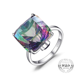 The Mysterious Ring in Rainbow Mystic Topaz