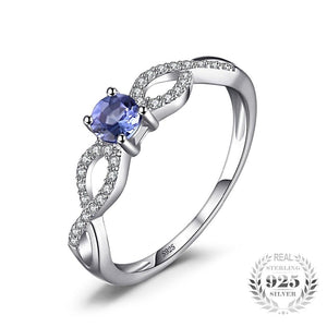 Infinity Tanzanite Ring For Women Born in December