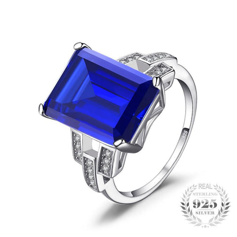 Image of The Bespoke Ring in Blue Emerald