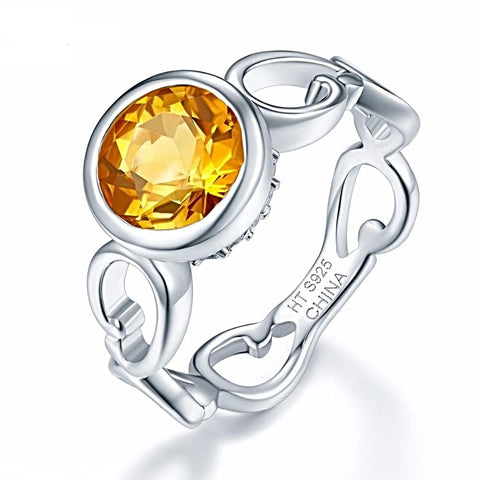 1.71 ct Natural Citrine Ring For Women Born in November