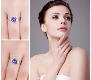 Round 2.97ct Alexandrite Sapphire Ring For Women