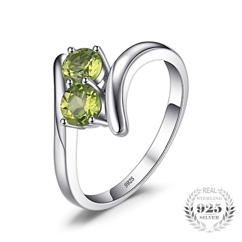 Image of The Twins (ring) in Peridot
