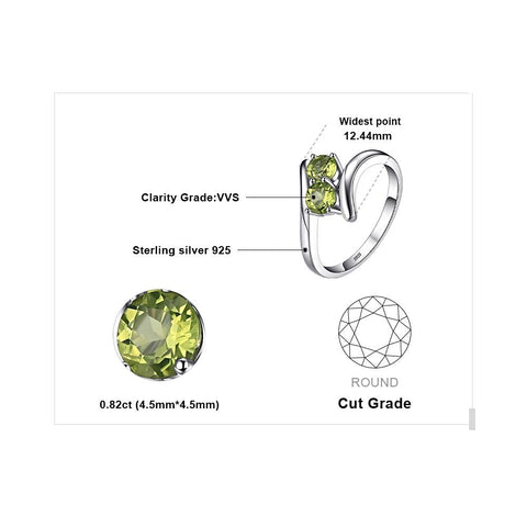The Twins (ring) in Peridot