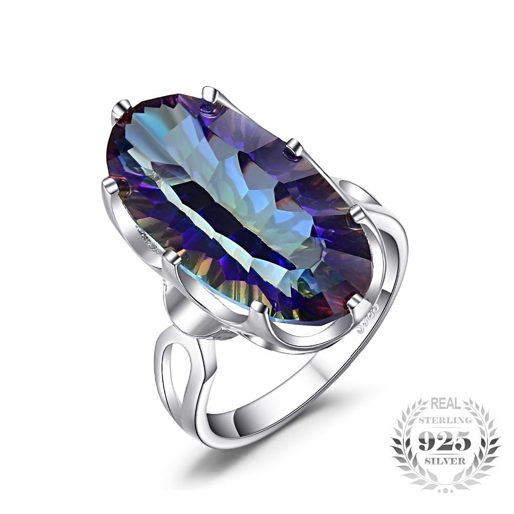 8ct Striking Rainbow Fire Mystic Topaz Ring For Women Born in November
