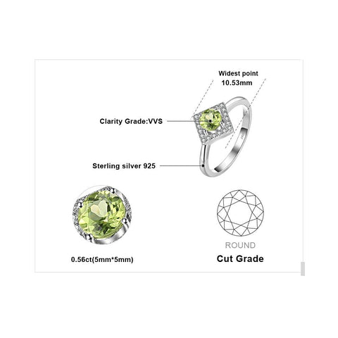 Image of On a Silver Platter (ring) in Peridot
