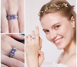 One-of-a-Kind Amethyst Ring For Women Born In February
