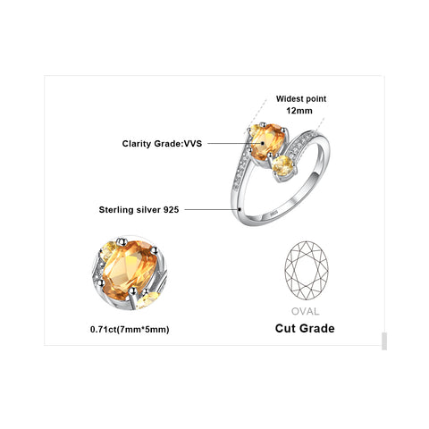 The Triplets (ring) in Citrine