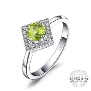 On a Silver Platter (ring) in Peridot