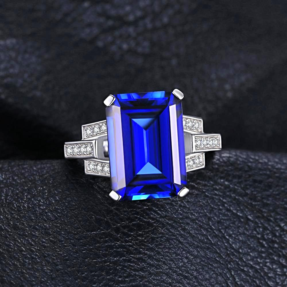 The Bespoke Ring in Blue Emerald