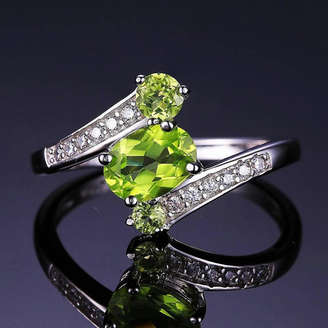 Image of The Triplets (Ring) in Peridot