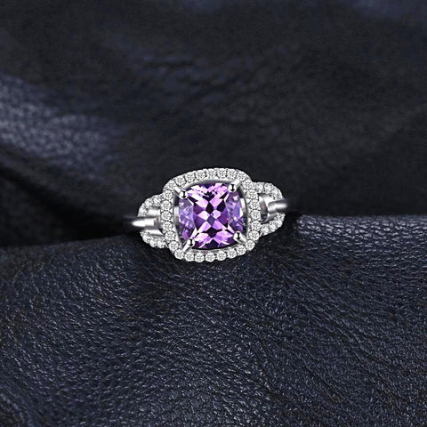 Square 2.5ct Square Alexandrite Sapphire Ring For Women