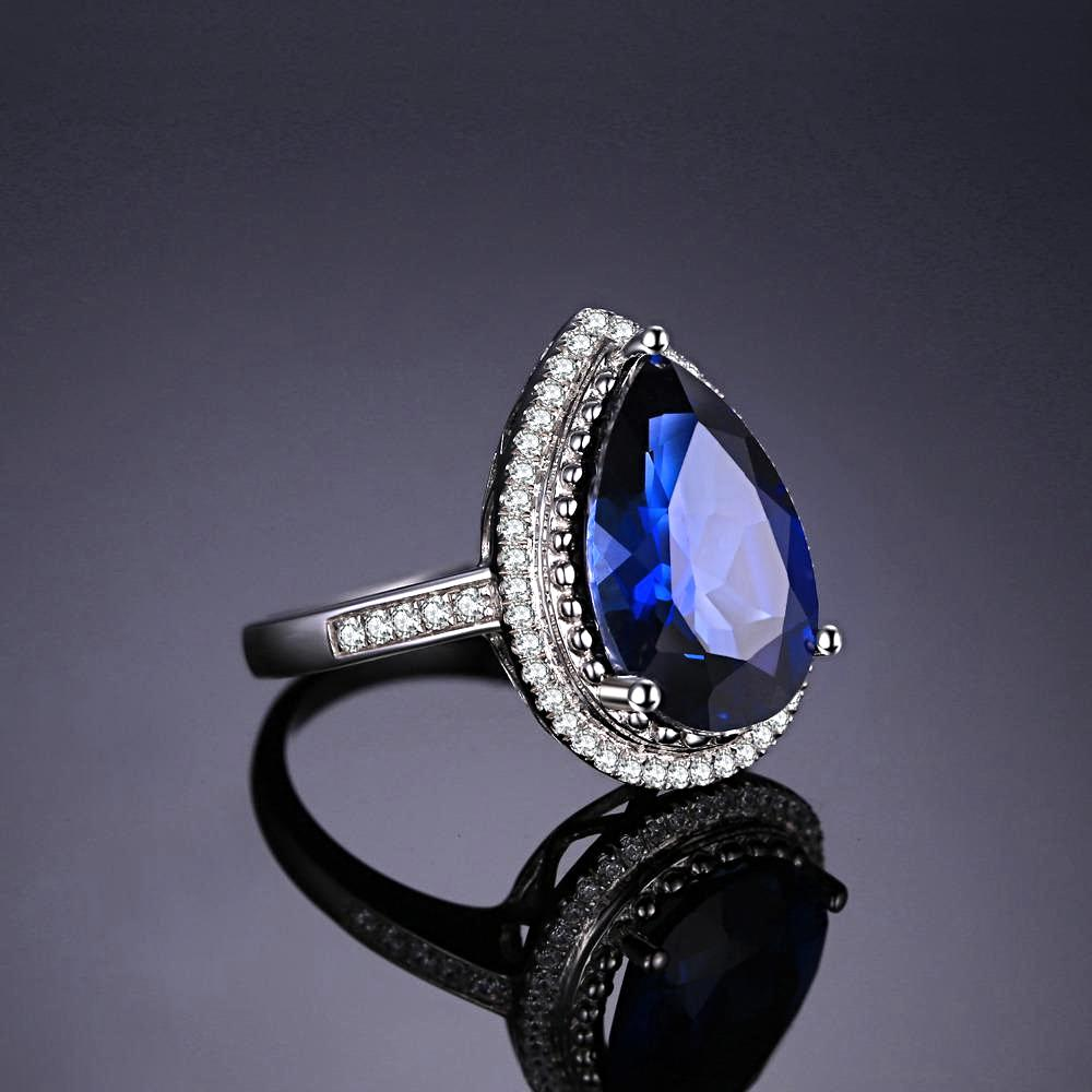 The Teardrop Ring in Sapphire
