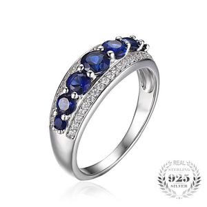 The Thick Spread Ring in Blue Sapphire