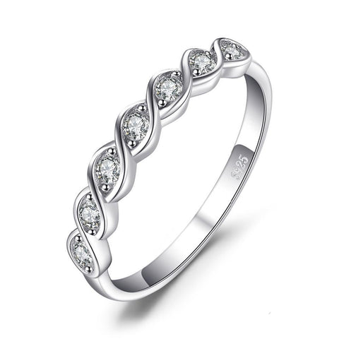 Image of Classic Round Cubic Zirconia Ring in 925 Sterling Silver